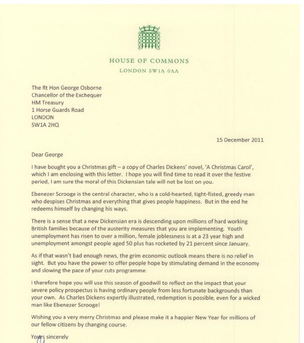 A Christmas Letter To George Osborne Labourlist