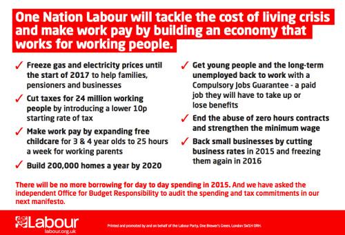 Cost of living pledge
