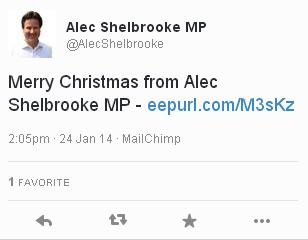 Shelbrooke merry christmas in January