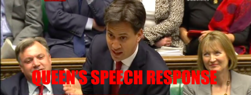 MILIBAND QUEEN'S SPEECH