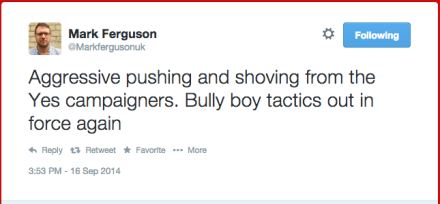 yes campaigners bully boy