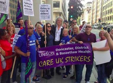 care uk strike