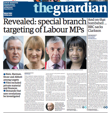 Guardian MPs spying