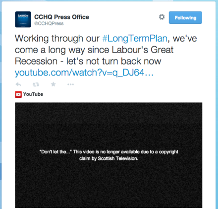 Tory attack ad copyright claim