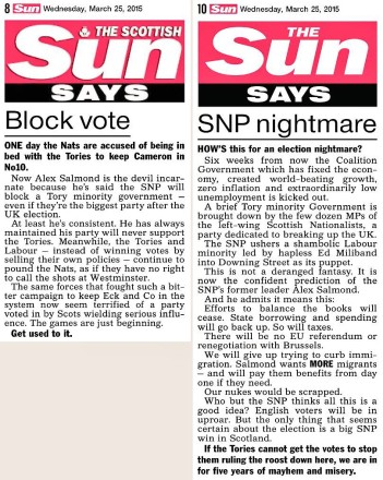 The Sun and SNP