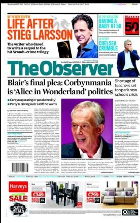 Observer Tony Blair Corbyn