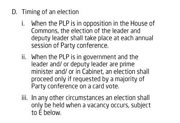 rulebook clause  II D