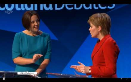 Scottish debate Dugdale Sturgeon