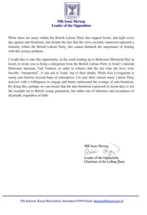 Isaac Herzog Livingstone letter 2jpg