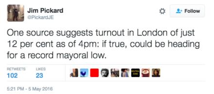Jim Pickard turnout tweet