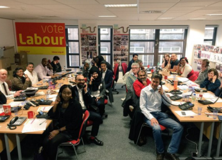 Ed Miliband Labour HQ London