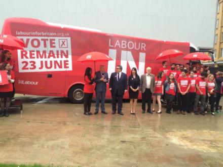 Labour in for Britain Campaign launch alan johnson tom watson eu