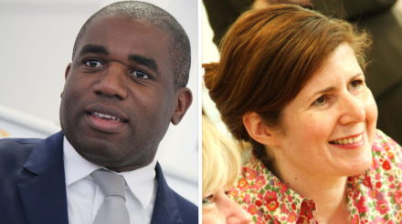 David Lammy and Jenny Chapman