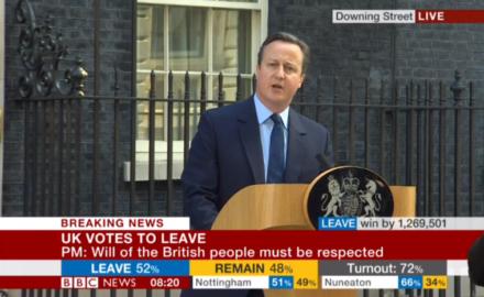 Cameron resignation