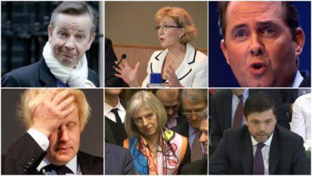 Gove May Leadsom Fox Boris Johnson Tory Leadership candidates