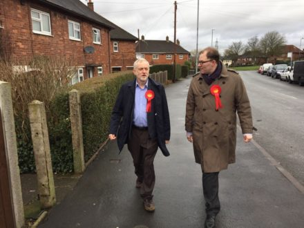 Corbyn in Stoke Central with Gareth Snell