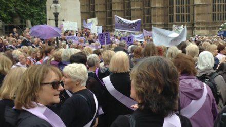 Women take pension protest to Whitehall