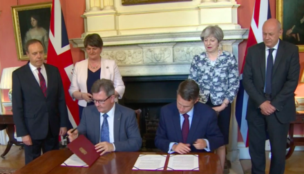 Tory deal with DUP includes infrastructure funding
