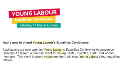 Labour excludes straight white men from equality conference