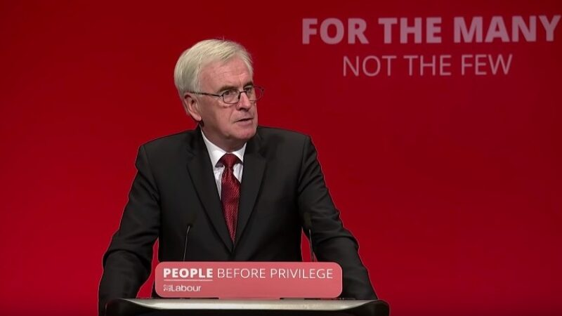 McDonnell: PM's letter to Corbyn a 'publicity stunt'